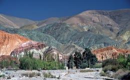Аргентина красит salta 7 холма Стоковые Изображения RF
