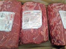 Аргентина мраморизовала говядину Отрезок Dorsal, тучный край говядины Стоковые Изображения