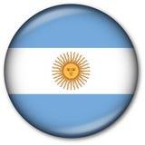 аргентинский флаг кнопки Стоковая Фотография