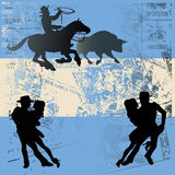 аргентинский флаг Стоковая Фотография