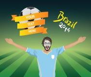 аргентинский футбол вентилятора Стоковые Фотографии RF