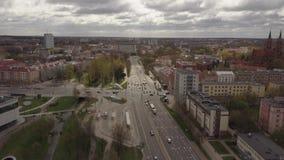 Ареальная панорама города Bialystok в Польше сток-видео
