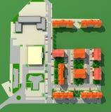 ареальная съемка блоков Стоковая Фотография RF