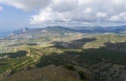 Ареальный взгляд долины взморья на побережье Чёрного моря c Стоковые Фото