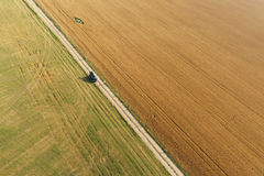 Ареальный взгляд кукурузного поля Стоковая Фотография RF