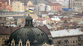 Ареальный взгляд на Львове, Украине сток-видео