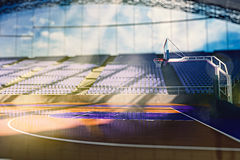 Арена баскетбола представляет иллюстрация штока