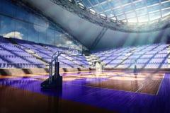 Арена баскетбола представляет бесплатная иллюстрация