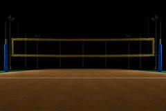 Арена волейбола на ноче Стоковое Изображение RF