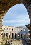 Арена пул, старая римская архитектура стоковое изображение rf