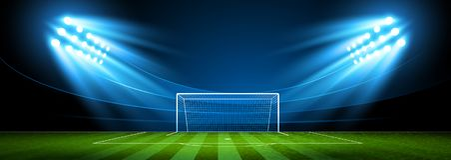 Арена футбола стадион вектор Стоковое Изображение RF