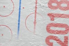 Арена хоккея с маркировками Стоковые Фотографии RF