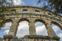 арена amphitheatre как самое лучшее столетие сперва свой известный мир самых больших по месту pula шестой стоковые фото