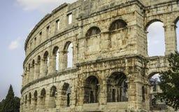 арена amphitheatre как самое лучшее столетие сперва свой известный мир самых больших по месту pula шестой стоковые изображения