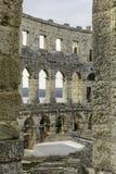 арена amphitheatre как самое лучшее столетие сперва свой известный мир самых больших по месту pula шестой стоковая фотография rf