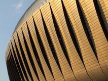 Арена Cluj в заходе солнца стоковые изображения rf