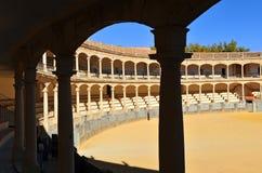 Арена Maestranza в Ronda, Андалусии, Испании Стоковая Фотография RF