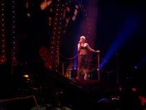 Арена Nuernberg, Германия - 28-ое марта 2009: Пинк в путешествии Funhouse концерта на арене Nuernberg Icehall Стоковые Фото