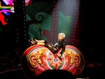 Арена Nuernberg, Германия - 28-ое марта 2009: Пинк в путешествии Funhouse концерта на арене Nuernberg Icehall Стоковая Фотография RF