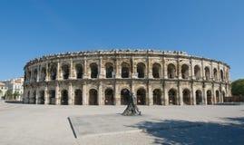 Арены Nimes, римского амфитеатра в Nimes Стоковое Изображение