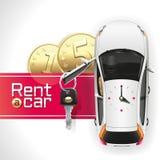 Арендуйте автомобиль на красном ковре Стоковые Фотографии RF