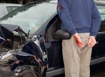 арестованная автокатастрофа Стоковые Изображения