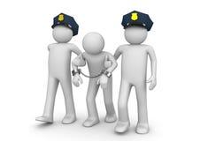 арестованный законный outlaw Стоковое Изображение RF