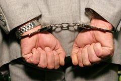 арестованный человек Стоковая Фотография