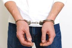Арестованный человек Стоковое фото RF