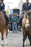 арестовывает стрельбу sean протеста колокола Стоковая Фотография RF