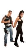 арестовывать женщину полисмена испанскую милую Стоковая Фотография
