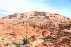 Аризона/Юта: Эксцентричный ландшафт песчаника в зоне Buttes койота стоковые изображения rf