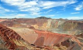 Аризона, Morenci: Медный рудник открытого карьера стоковые фото