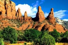 Аризона, Sedona, утес Catherdral Стоковые Фотографии RF