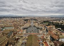 Аркада Сан Pietro, государство Ватикан, Рим, Италия стоковая фотография rf