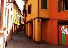Аркада улицы в болонья, Италии стоковое фото rf