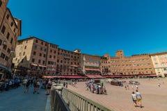 Аркада del Campo в Сиене, Италии стоковое фото rf