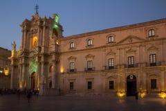 Аркада del Duomo, Ortigia стоковые фотографии rf