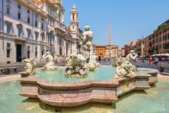 Аркада Navona в Риме на красивый летний день стоковые изображения