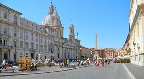 Аркада Navona в центре Рима стоковые изображения rf