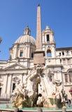аркада rome navona Италии стоковая фотография rf