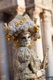 аркада san venice маски marco Италии масленицы Стоковая Фотография