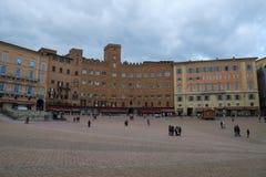 аркада siena Италии del campo стоковое изображение rf