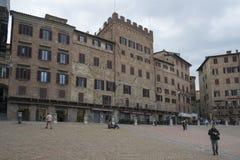 аркада siena Италии del campo стоковая фотография