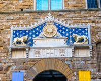 Аркада Signoria Тоскана Флоренс Италия Palazzo Vecchio входа стоковое фото
