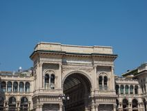Аркада Vittorio Emanuele II Galleria в милане Стоковое Изображение RF