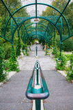 Аркада на Parc de Belleville в Париже Стоковое Изображение
