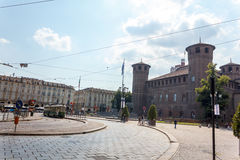 Аркада Castello Турин Стоковое Изображение RF