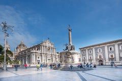 Аркада del Duomo в Катании Стоковые Изображения RF