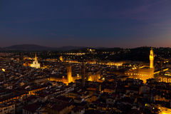 Аркада Della Signoria на ноче стоковое изображение rf